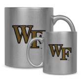 11oz Silver Metallic Ceramic Mug-WF