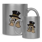 11oz Silver Metallic Ceramic Mug-Deacon Head