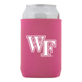 Collapsible Hot Pink Can Holder-WF