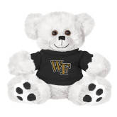 Plush Big Paw 8 1/2 inch White Bear w/Black Shirt-WF