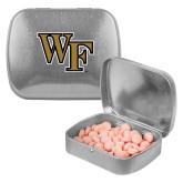 Silver Rectangular Peppermint Tin-WF