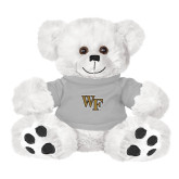 Plush Big Paw 8 1/2 inch White Bear w/Grey Shirt-WF