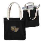 Allie Black Canvas Tote-WF