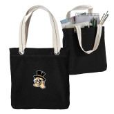 Allie Black Canvas Tote-Deacon Head