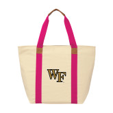 Natural/Tropical Pink Saratoga Tote-WF