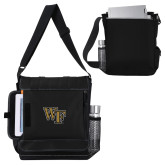 Impact Vertical Black Computer Messenger Bag-WF