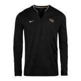 NIKE 1/2 Zip Black Coach Top-
