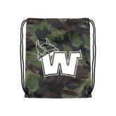 Nylon Camo Drawstring Backpack-Waldorf W