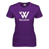 Ladies Purple T Shirt-Stacked W Waldorf