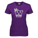 Ladies Purple T Shirt-Hockey