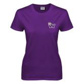 Ladies Purple T Shirt-Waldorf W