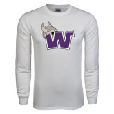 White Long Sleeve T Shirt-Waldorf W