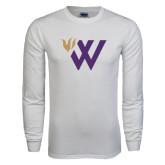 White Long Sleeve T Shirt-Waldorf W Academic Mark