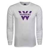 White Long Sleeve T Shirt-W Warriors