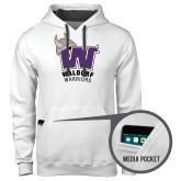 Contemporary Sofspun White Hoodie-W Waldorf Warriors