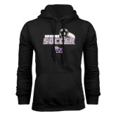 Black Fleece Hood-Soccer Swoosh Design