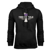 Black Fleece Hood-Track and Field Design
