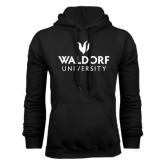 Black Fleece Hoodie-Waldorf University Academic Mark Stacked