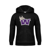 Youth Black Fleece Hoodie-Waldorf W