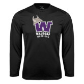 Syntrel Performance Black Longsleeve Shirt-W Waldorf Warriors