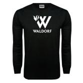 Black Long Sleeve TShirt-Stacked W Waldorf