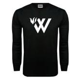 Black Long Sleeve TShirt-Waldorf W Academic Mark