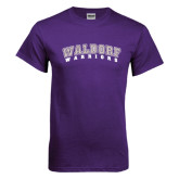 Purple T Shirt-Arched Waldorf Warriors