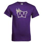 Purple T Shirt-Waldorf W Distressed
