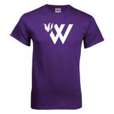 Purple T Shirt-Waldorf W Academic Mark