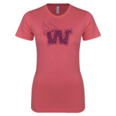 Next Level Ladies SoftStyle Junior Fitted Pink Tee-Waldorf W