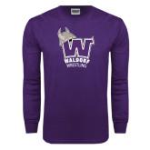 Purple Long Sleeve T Shirt-Wrestling