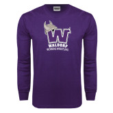 Purple Long Sleeve T Shirt-Womans Wrestling