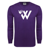 Purple Long Sleeve T Shirt-Waldorf W Academic Mark
