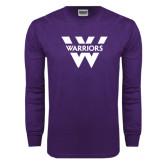 Purple Long Sleeve T Shirt-W Warriors