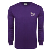Purple Long Sleeve T Shirt-Waldorf W