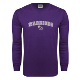 Purple Long Sleeve T Shirt-Arched Warriors w/ Waldorf W