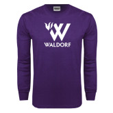 Purple Long Sleeve T Shirt-Stacked W Waldorf