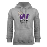 Grey Fleece Hood-W Waldorf Warriors