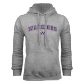 Grey Fleece Hood-Arched Warriors w/ Waldorf W