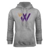 Grey Fleece Hoodie-Waldorf W Academic Mark