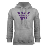 Grey Fleece Hood-W Warriors