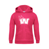 Youth Raspberry Fleece Hoodie-Waldorf W