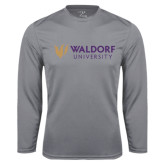 Syntrel Performance Steel Longsleeve Shirt-Waldorf University Academic Mark Flat