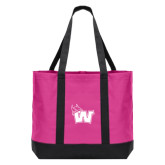 Tropical Pink/Dark Charcoal Day Tote-Waldorf W