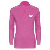 Ladies Syntrel Interlock Raspberry 1/4 Zip-Waldorf W