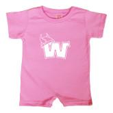 Bubble Gum Pink Infant Romper-Waldorf W
