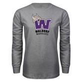 Grey Long Sleeve T Shirt-W Waldorf Warriors