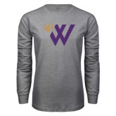 Grey Long Sleeve T Shirt-Waldorf W Academic Mark
