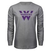 Grey Long Sleeve T Shirt-W Warriors