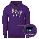 Contemporary Sofspun Purple Hoodie-Waldorf W
